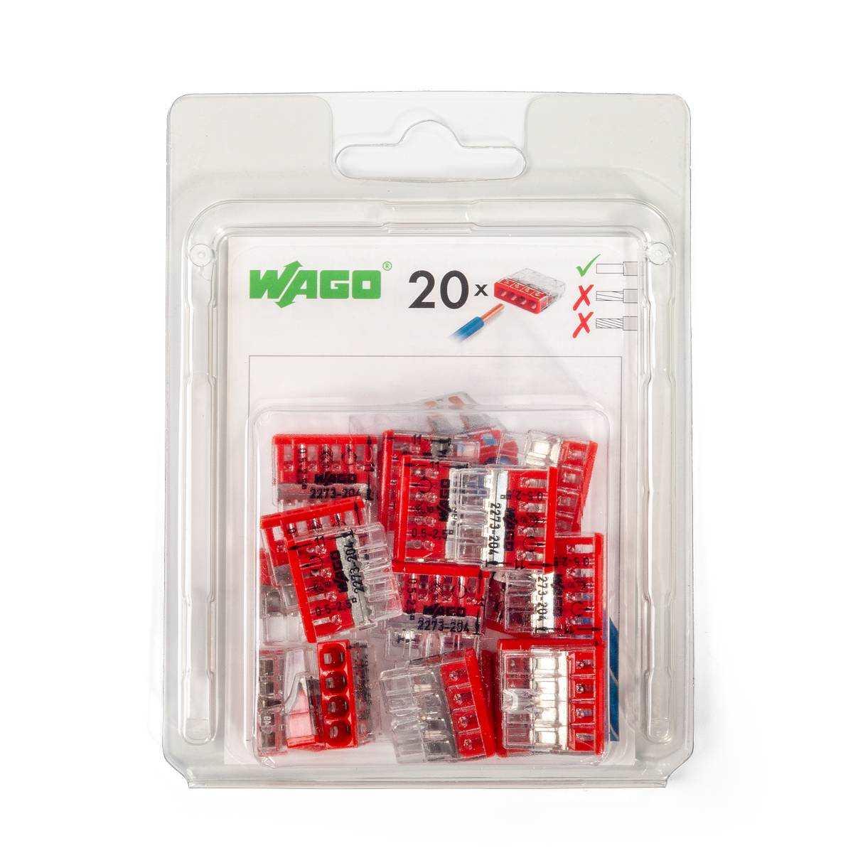 Мини-упаковка клемм «Wago» в блистерах (без контактной пасты)