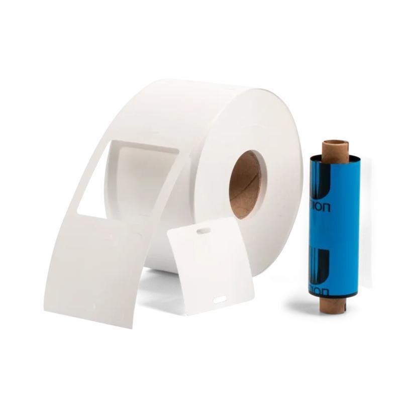 Комплект «бирка-риббон» для маркировки кабеля: квадратные бирки У-134, термотрансферная лента.